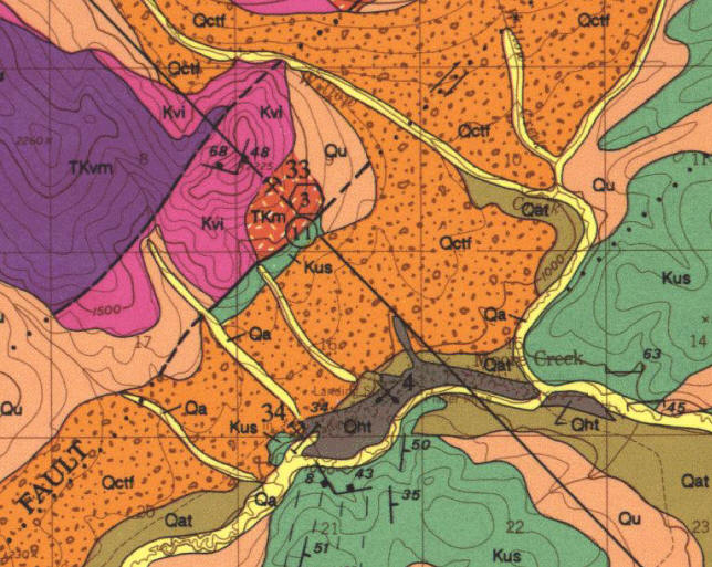 Geologic Map of Moore Creek Vicinity